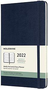 Kalender Moleskine 2022 12m Large Uke Blå