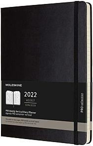 Kalender Moleskine 2022 12m X-Large Uke Sort