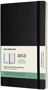 Kalender Moleskine 18M 21/22 L Uke Sort Soft