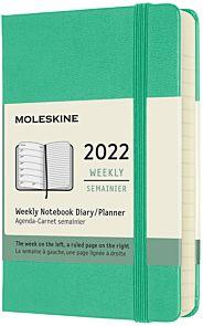 Kalender Moleskine 2022 12m Pocket Uke Lys Grønn