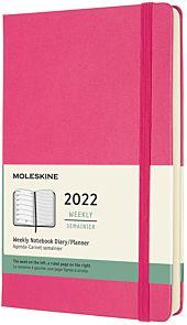 Kalender Moleskine 2022 12m Large Uke Rosa