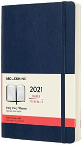 Moleskine 2021 12M L Dag Safirblå Soft