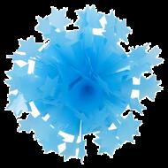 Rosett Neon Blue Star