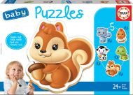 Puslespill 5 Baby Animals Educa