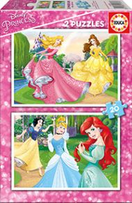 Puslespill 2x20 Disney Princess Educa