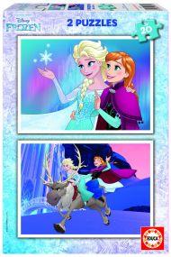 Puslespill 2X20 Frozen Educa