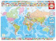 Puslespill 1500 Political Worldmap Educa