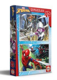 Puslespill 2x100 Spiderman Educa