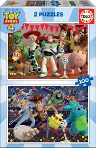 Puslespill 2x100 Toy Story 4 Educa
