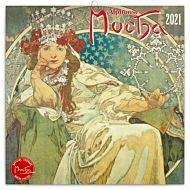 Kalender 2021 30x30cm Mucha