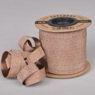 Gavebånd Kobber/Glitter 10mm X 25m