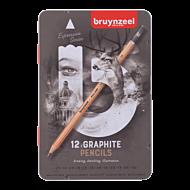 Blyant Bruynzeel Grå Sett 12Stk