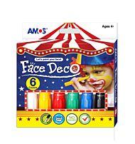 Amos Face Deco Ansiktsmaling 6pk Ass