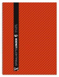 Spiralhefte Emo A4 90g 70bl rød linjer