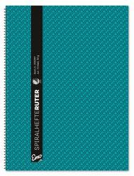 Spiralhefte Emo A4 90g 70bl blå ruter