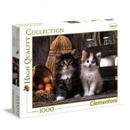 Puslespill 1000 High Color Lovely Kittens Clemento