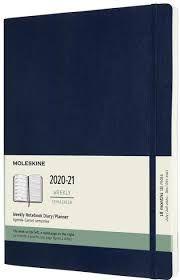 Moleskine 20-21 18M XL Uke Safirblå Soft