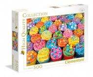 Puslespill 500 Colorcupcakes Clementoni