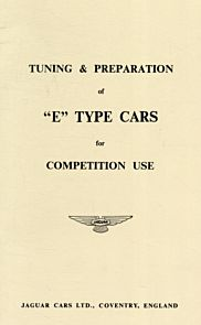 Jaguar E-Type Tuning and Preparation for Competition Use