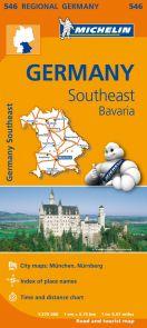 Germany = Allemagne : sud-est, Bavière : carte routière et touristique