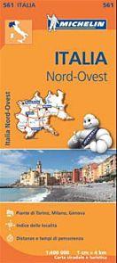 Italia nord-ovest = Italie nord-ouest : carte routière et touristique : plans de Torino, Milano, Gen