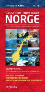 Illustrert turistkart Norge = Tourist map of Norway : illustrated road map = Tourismuskarte Norwegen