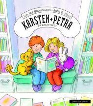 Karsten og Petra på biblioteket
