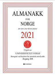 Almanakk for Norge 2021