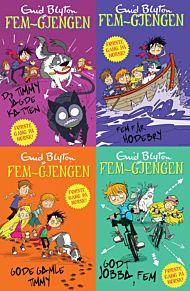 Fem-gjengen : illustrert lesepakke ; Da Timmy jagde katten ; Fem får hodebry ; Godt jobba, Fem ; God