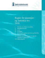 Regler for passasjer og lasteskip mv. 2018