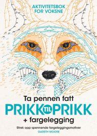 Prikk til Prikk aktivitetsbok for voksne + fargelegging