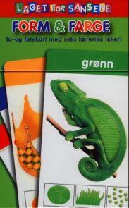 Laget for sansene. Form og farge. Ta- og følekort med seks lærerike leker.