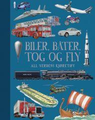 Biler, båter, tog og fly