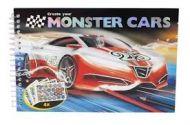 Malebok Mini Monster Cars