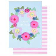 Systemkort Paper Flower Wreath Happy Bday