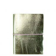 Notatbok Noto B6 m/strikk Linjert Heftet Silver Gr