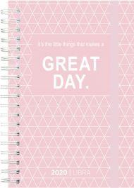 Dagbok Grieg Libra Trend 2020 rosa