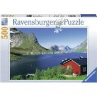 Puslespill 500 Norwegian Fishing Village Ravensbur