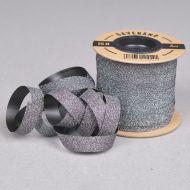 Gavebånd Sort/Glitter 10mm X 25m