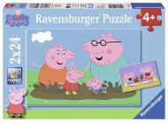 Puslespill 2X24 Peppa Pig Ravensburger