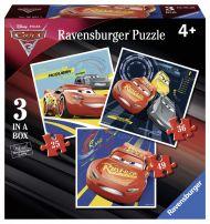 Puslespill 3i1 Biler Ravensburger