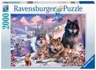 Puslespill 2000 Ulver i snøen Ravensburger