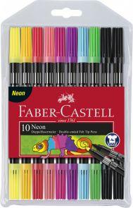 Tusj Faber Dobbelt Neon Farger 10 Pk