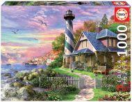 Puslespill 1000 Lighthouse At Rock Bay Educa