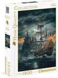 Puslespill 1500 Pirate Ship Clementoni