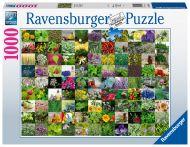 Puslespill 1000 Urter Blomster Ravensburger
