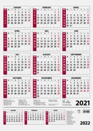 Veggkalender 2021 7.sans Årskalender A3