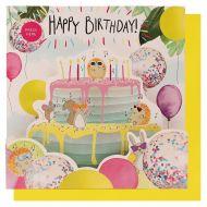 Lydkort PC Happy Birthday Cake Animals