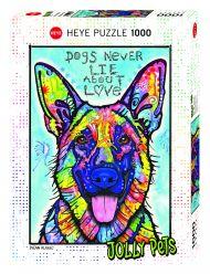 Puslespill 1000 Dogs Never Lie Heye