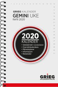 Lommekalender Grieg Gemini spiral refill 2020
